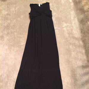 Max Studio full length black maxi dress